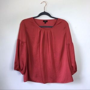 Talbots Coral 3/4 Bell Puff Sleeve Blouse, 12P